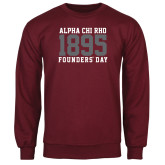 Maroon Fleece Crew-Founders Day 1895