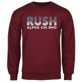 Maroon Fleece Crew-Rush Lines Alpha Chi Rho