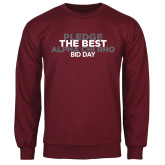 Maroon Fleece Crew-Pledge The Best