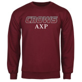 Maroon Fleece Crew-Crows AXP