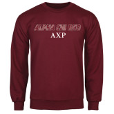 Maroon Fleece Crew-Alpha Chi Rho AXP