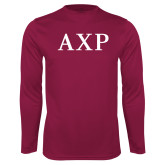 Syntrel Performance Maroon Longsleeve Shirt-AXP