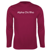 Performance Maroon Longsleeve Shirt-Alpha Chi Rho