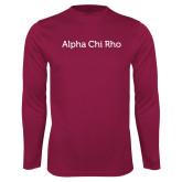 Syntrel Performance Maroon Longsleeve Shirt-Alpha Chi Rho