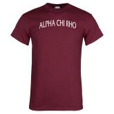Maroon T Shirt-Alpha Chi Rho Arched