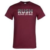 Maroon T Shirt-Rush Lines Alpha Chi Rho