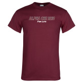 Maroon T Shirt-Alpha Chi Rho For Life