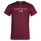 Maroon T Shirt-Alpha Chi Rho AXP