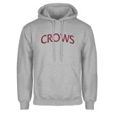 Grey Fleece Hoodie-Crows Arched