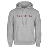 Grey Fleece Hoodie-Alpha Chi Rho