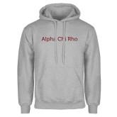 Grey Fleece Hoodie-Alpha Chi Rho