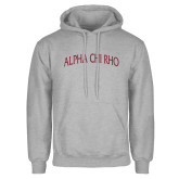Grey Fleece Hoodie-Alpha Chi Rho Arched
