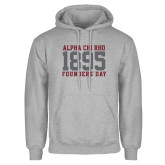 Grey Fleece Hoodie-Founders Day 1895