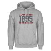 Grey Fleece Hoodie-Founders Day 1895