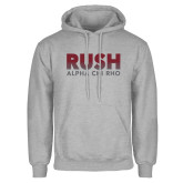 Grey Fleece Hoodie-Rush Lines Alpha Chi Rho
