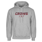 Grey Fleece Hoodie-Crows AXP