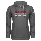 Adidas Climawarm Charcoal Team Issue Hoodie-Rush Lines Alpha Chi Rho