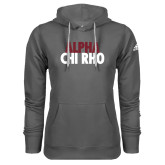 Adidas Climawarm Charcoal Team Issue Hoodie-Alpha Chi Rho with shield