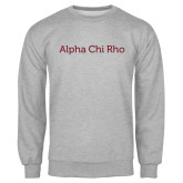 Grey Fleece Crew-Alpha Chi Rho