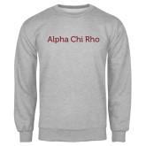 Grey Fleece Crew-Alpha Chi Rho