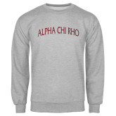 Grey Fleece Crew-Alpha Chi Rho Arched