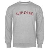 Grey Fleece Crew-Alpha Chi Rho Arched