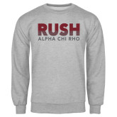 Grey Fleece Crew-Rush Lines Alpha Chi Rho