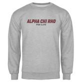 Grey Fleece Crew-Alpha Chi Rho For Life