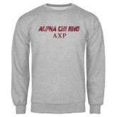 Grey Fleece Crew-Alpha Chi Rho AXP