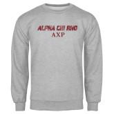 Grey Fleece Crew-Alpha Chi Rho AXP