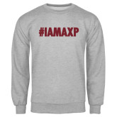 Grey Fleece Crew-#IAMAXP