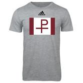 Adidas Sport Grey Logo T Shirt-Flag