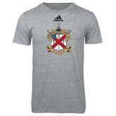Adidas Sport Grey Logo T Shirt-Crest