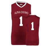 Replica Maroon Adult Basketball Jersey-