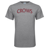Grey T Shirt-Crows Arched