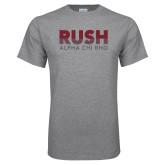 Grey T Shirt-Rush Lines Alpha Chi Rho