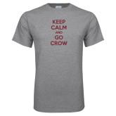 Grey T Shirt-Keep Calm Go Crow