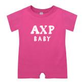 Bubble Gum Pink Infant Romper-AXP Baby