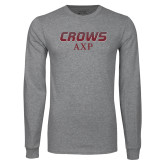 Grey Long Sleeve T Shirt-Crows AXP