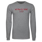 Grey Long Sleeve T Shirt-Alpha Chi Rho AXP