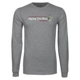 Grey Long Sleeve T Shirt-Alpha Chi Rho