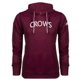 Adidas Climawarm Maroon Team Issue Hoodie-Crows Arched
