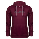 Adidas Climawarm Maroon Team Issue Hoodie-Alpha Chi Rho