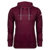 Adidas Climawarm Maroon Team Issue Hoodie-Alpha Chi Rho