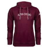 Adidas Climawarm Maroon Team Issue Hoodie-Alpha Chi Rho Arched