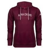 Adidas Climawarm Maroon Team Issue Hoodie-Alpha Chi Rho Arched