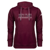 Adidas Climawarm Maroon Team Issue Hoodie-Founders Day