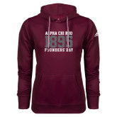 Adidas Climawarm Maroon Team Issue Hoodie-Founders Day 1895