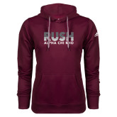 Adidas Climawarm Maroon Team Issue Hoodie-Rush Lines Alpha Chi Rho