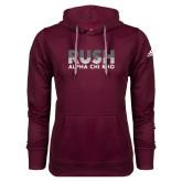 Adidas Climawarm Maroon Team Issue Hoodie-Rush Lines Alpha Chi Rho